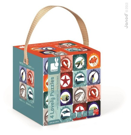 Puzzle dla dzieci 8w1 Morze i ocean Lovely - puzzle z motywami morskimi, Janod
