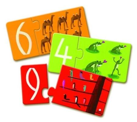 Puzzle edukacyjne DUO - puzzle nauka liczenia, liczby DJECO