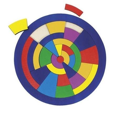 Puzzle kręgi - drewniana układanka logiczna koło, 29 el., GOKI 57849