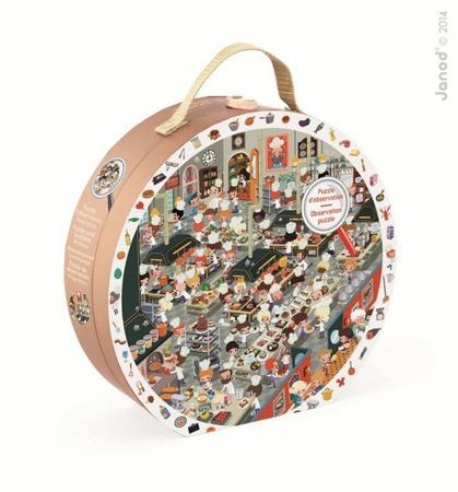 Puzzle obserwacyjne w walizce Restauracja, Janod - puzzle w walizce, 208 elementów w zestawie