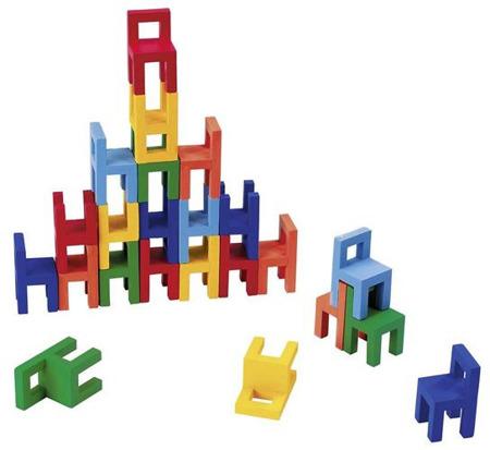 Równowaga krzeseł - balansująca wieża z krzesełek GOKI, 24 el.