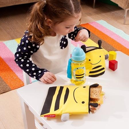 Saszetki na przekąski dla dzieci - zestaw dwóch saszetek z wodoodpornej tkaniny, Pszczoła, SKIP HOP