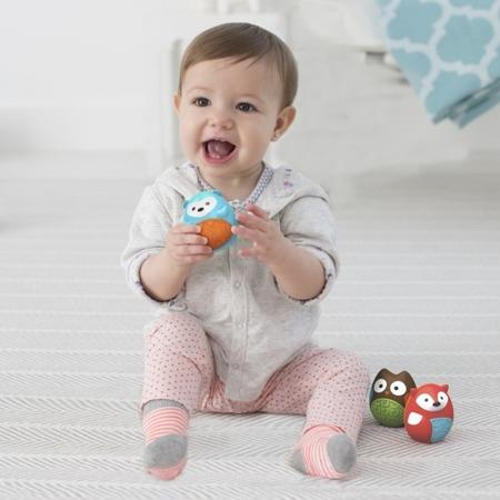 Sensoryczne grzechotki zwierzęta dla niemowląt Trio Explore & More - 3 szt., SKIP HOP 303106