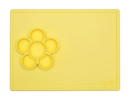 Silikonowa mata do zabawy z pojemniczkami 2w1 Flower Play Mat żółta, EZPZ EUPMY001