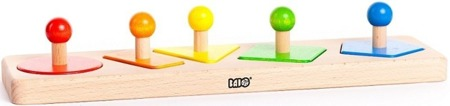 Sortowanie figur - sortownik dla malucha, nauka figur geometrycznych, BAJO