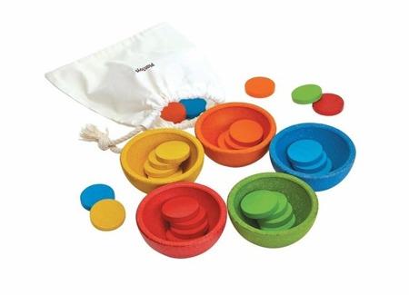 Sortuj i licz kolorowe, Plan Toys, PLTO-5360