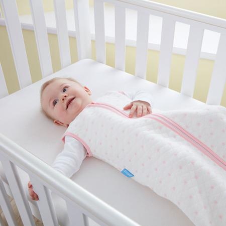Śpiworek do spania dla noworodków i niemowląt Grobag Pink Hearts grubość 2,5 tog Jacquard, GRO Company