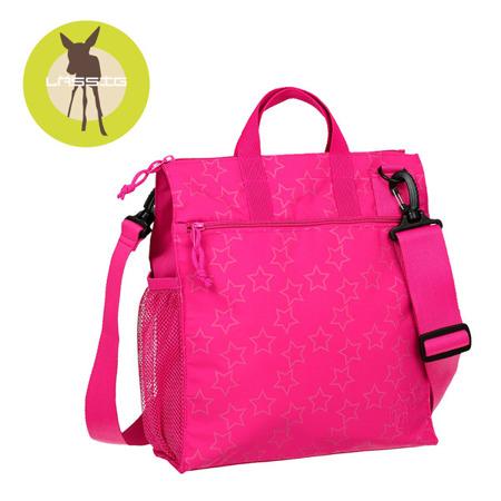 Torba do wózka dla mamy różowa Reflective Star magenta, Lassig Casual Label