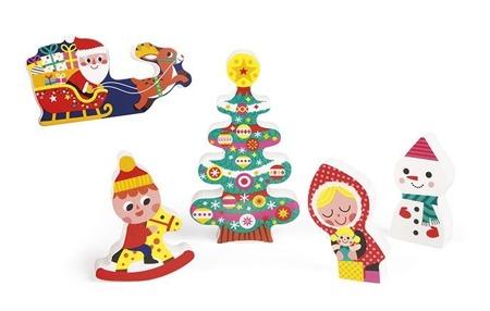 Układanka drewniana 3D Magia Świąt - układanka na Boże Narodzenie, JANOD