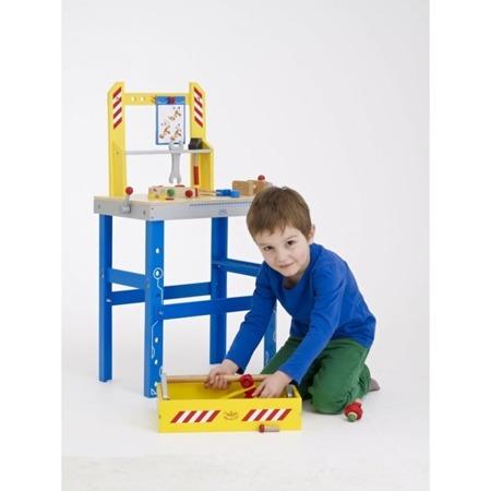 Drewniany stolik warsztatowy dla dzieci DUŻY, Warsztat z 87 akcesoriami, 3 lata +, VILAC