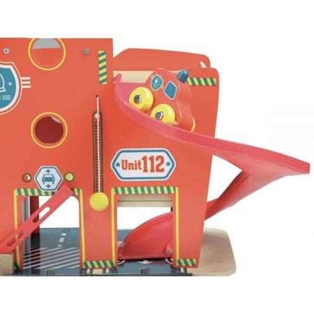 Drewniana remiza strażacka dla dzieci, 3 lata +, VILAC