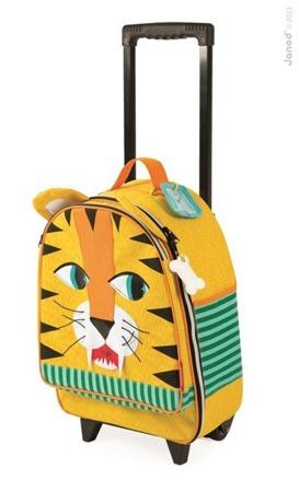 Walizka na kółkach Tygrys - walizka podróżna dla dzieci, Janod
