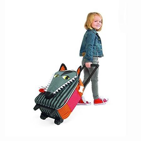 Walizka na kółkach Wilk - walizka podróżna dla dzieci, Janod
