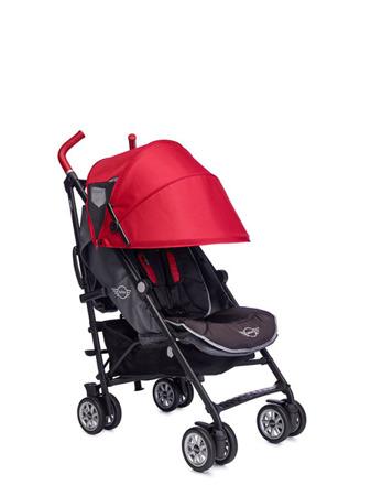 Wózek spacerowy / spacerówka z osłonką przeciwdeszczową 6,5kg Union Red (special edition), MINI by Easywalker