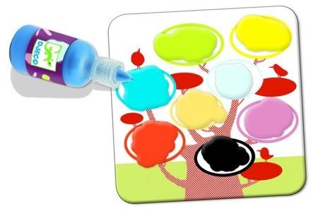Zestaw artystyczny Malowanie palcami dla najmłodszych - zestaw farb, DJECO