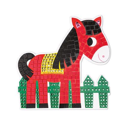 Zestaw artystyczny Mozaika Dzień na farmie - zwierzęta na wsi, Janod J07768