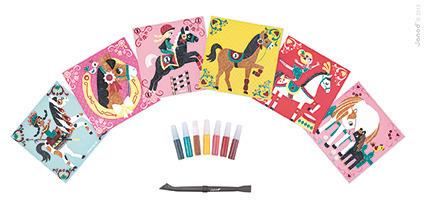 Zestaw artystyczny dla dzieci Magiczny brokat Świat koni, Janod J07769