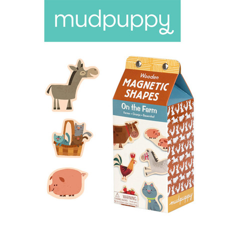 Zestaw drewnianych magnesów Na farmie - magnesy 40 elementów, 3+, Mudpuppy
