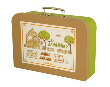 Zestaw małego ogrodnika w walizce - walizka ogrodnika, Moulin Roty
