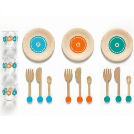 Zestaw obiadowy u Lucile i Marcel - 3 komplety naczyń dla dzieci, DJECO
