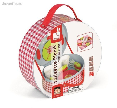 Zestaw piknikowy w walizeczce z 21 akcesoriami, Janod - zabawka piknik dla dzieci