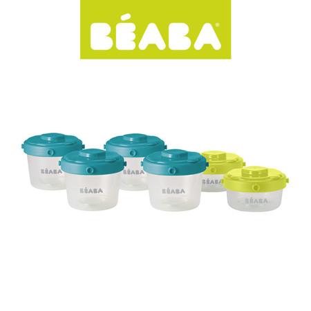 Zestaw słoiczków Clip do przechowywania mleka, pokarmu, jedzenia dla dzieci i niemowląt 6 szt. 60 ml i 120 ml, BEABA